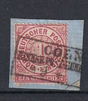 "NDP 1 Gr Taler 1869 -!sehr selten! ""Coeln - Eisenb Post Bureau"" 3Kasten  o, BfSt"