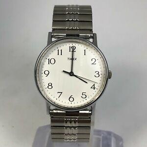 Timex LA Cell Mens Vintage Weekender Dress Silver Bracelet Quartz Analog Watch