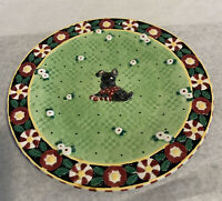 Mary Engelbreit Christmas Porcelain Plate Scottie Dog