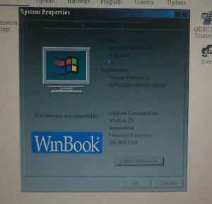 Winbook W3 running Windows Me
