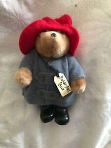 """VINTAGE Jointed *Paddington Bear* 4.5"""" Plush by Eden Toys -1986. Great Condition"""
