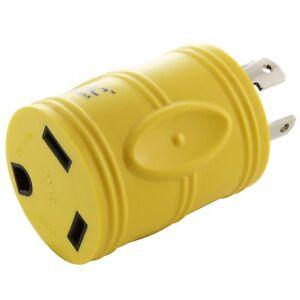 Compact Locking RV Adapter NEMA L14-30P to NEMA TT-30R by AC WORKS®
