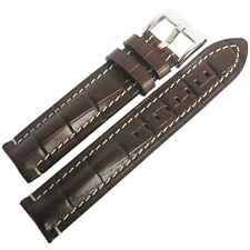 20mm Di-Modell Bali Chrono Brown Alligator-Grain Leather German Watch Band Strap