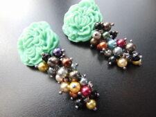 Handgefertigter runder Mode-Ohrschmuck Perlen