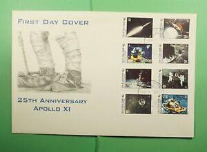 DR WHO 1995 TURKS & CAICOS ISLANDS FDC SPACE APOLLO 11 ANIV CACHET COMBO Lg15771