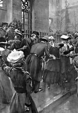 Suffragettes chained themselves to railings outside 10 Downing st  Poster Print