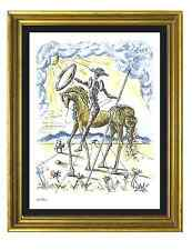 "Salvador Dali Signed & Hand-Numbered Ltd Ed ""Don Quixote"" Litho Print (unframed)"