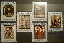 POLAND STAMPS MNH 1Fi3158-63 Sc3007-12 Mi3306-11- Masterpieces in Krakow,1991,**