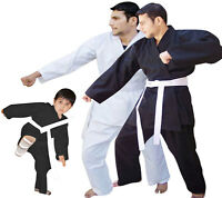 Karate Suit / Karate Uniforms + White Belt  Juniors & Adults SIZE 000 to SIZE 7