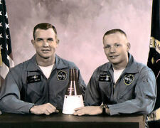 "DAVID SCOTT NEIL ARMSTRONG ASTRONAUTS GEMINI VIII 8x10"" HAND COLOR TINTED PHOTO"