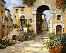 "Guido Borelli, Italy, ""L'entrata al Borgo"" open edition giclee', GTC"