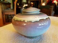 Mystery Artist Studio Pottery Jar with Lid 5 1/2