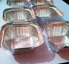 """50 Silver Aluminum Foil Tart Pan 3"""" Disposable Tin Heat Serve Bowl 1.5"""" deep"""