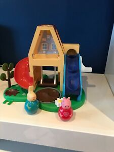 PEPPA PIG WEEBLES TREE HOUSE WITH 2 WEEBLE FIGURES peppa Rebecca