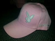 pink and white Playboy Bunny logo baseball cap  Adjustable