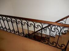 Balustrade Stair Railing - Wrought Iron Ballustrade with Timber Railing now r...
