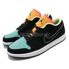 Nike Air Jordan 1 Low SE Black Aurora Green Oragne Men Shoes AJ1 CK3022-013