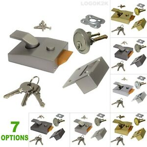 Night Latch Door Lock Y 89 85 with 3 Keys Rim Cylinder good to replace YALE ERA