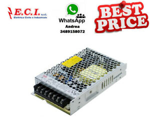Power Supply Metallic, 24Vdc 6,5A 156W IN: 85-264V Dim: 159X97X30mm LRS-150-24