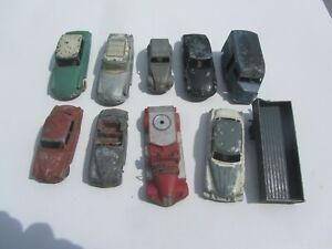 Lot de 10 Epaves Dinky toys