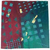 "Frank Rowland Mixed Collage Media Art 24"" x 24"" Signed Original Artwork Lot #7"