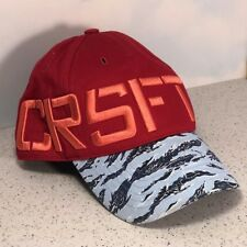 REEBOK CROSSFIT HAT UNISEX BASEBALL CAP SNAP BACK M-58 RED BLUE STRIPED FITNESS