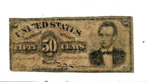 "50 CENT ""FR-1374"" (ABRAHAM LINCOLN) 1800'S  50 CENT (ABRAHAM LINCOLN) RARE NOTE!"