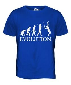 Tennis Player Evolution Of Man Herren T-Shirt Oberteil Geschenk Schläger