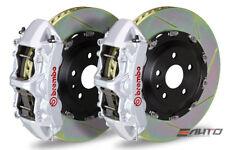 Brembo Front GT Brake 6Pot N Caliper Silver 380x34 Slot Rotor Supra JZA80 93-98