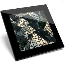 1 x Fachwerkhaus Historic Buildings Glass Coaster - Kitchen Student Gift #8927