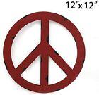Patriotic American Flag Metal Peace Sign- Metal Treasured Red Peace Sign