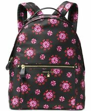 Michael Kors Kelsey Medium Floral Backpack - Black / Ultra Pink Jewel