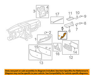 Hummer GM OEM 08-09 H2 Instrument Panel Dash-Filler Right 25913298