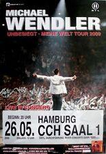 WENDLER, MICHAEL - 2009 - Konzertplakat - Unbesiegt - Tourposter - Hamburg