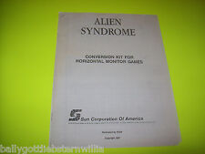 ALIEN SYNDROME VIDEO ARCADE GAME CONVERSION KIT SERVICE MANUAL 1987