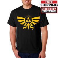LEGEND of ZELDA T-SHIRT BLACK Triforce Logo Symbol Tshirt T Link Nintendo Shirt