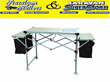 Kitchen hand Camp camping table bench with sink folding portable outdoor ACC529