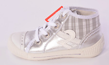 Superfit Infant Girls Grey Combi Hi-top Leather Converse Trainers UK 4 EU 20