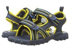 NIB Stride Rite Water Sandals Sharkie M2P Navy Blue Yellow 6 7 8 9 10 11 12 M