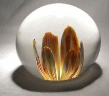 PERTHSHIRE GLASS  PAPERWEIGHT ORCHID
