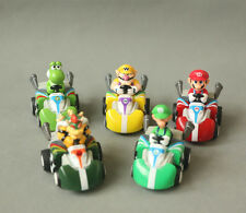 5PCS LOTS Super Mario Brother Luigi Wario Kart Pull Back Toy Cars Figures Gift