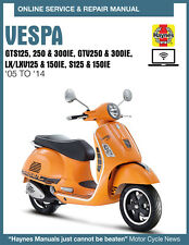 2014 Vespa GTV300 Haynes Online Repair Manual - 14 Day Access