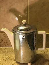 German WMF Metal And Hudschenreuther Selb Porcelain Insulated Coffee Pot