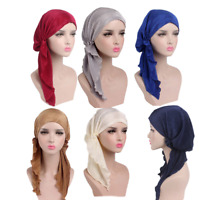 Muslim Women Hijab Caps Lady Turban Cancer Chemo Beanie Headscarf Cap Hijab Hat