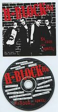 H-BLOCK 101 - No Room For Apathy - OZ Punk from Australia - CD VLS 002