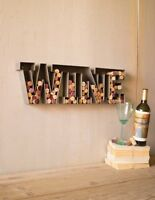 Metal Wine Cork Holder Wall Art Decor Sign Bar Gift Idea