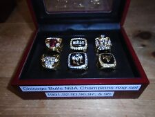 Chicago Bulls 6 piece Replica NBA Champs ring set Michael Jordan w/ box size 12