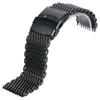 18mm 20mm 22mm 24mm Mesh Stainless Steel Wrist Watch Band Strap Bracelet