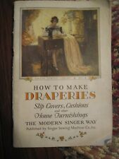 New listing Vintage Book - Singer How to Make Draperies, Slip Covers, Cushions, Etc.