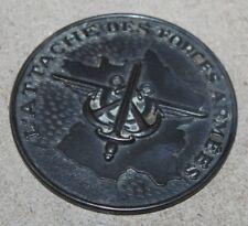 ancienne médaille en bronze argenté L'Attaché des forces armées